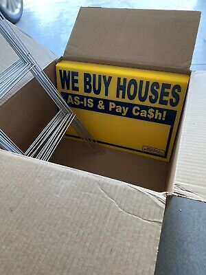 Brand New 10 Pack Of We Buy Houses Yard Signs Real Estate