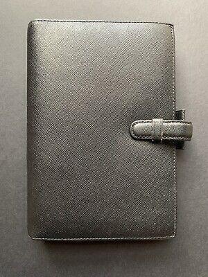 Filofax Portobello Personal Planner Organizer In Black Leather W Extras