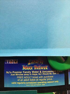 Land Of Make Believe Adult Ticket Admission Pass BOGO Savings Hope, NJ