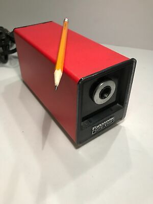 Vintage Panasonic Electric Pencil Sharpener Auto Stop Red Model Kp-77a