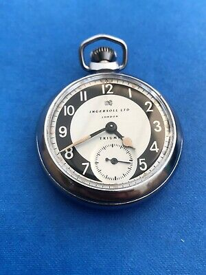 1957 INGERSOLL TRIUMPH Pocket Watch GOOD WORKING ORDER Runs for 30+ hours