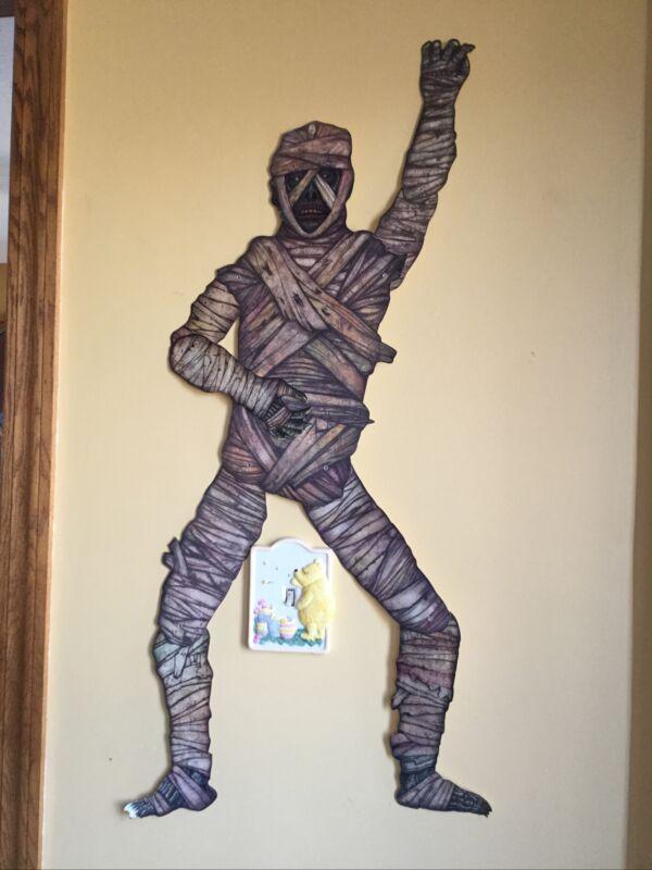 "Vintage Beistle Halloween Die Cut Jointed Mummy Decoration 41"" 1995 See Pics"