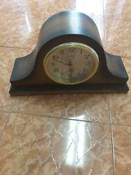 Linden Hump Back Quartz Shelf Mantel Clock Westminster Chime Works!