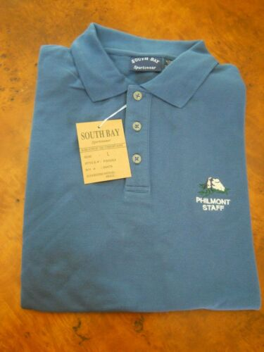 PHILMONT SCOUT RANCH POLO STAFF SHIRT, LARGE (NEW WITH TAGS)