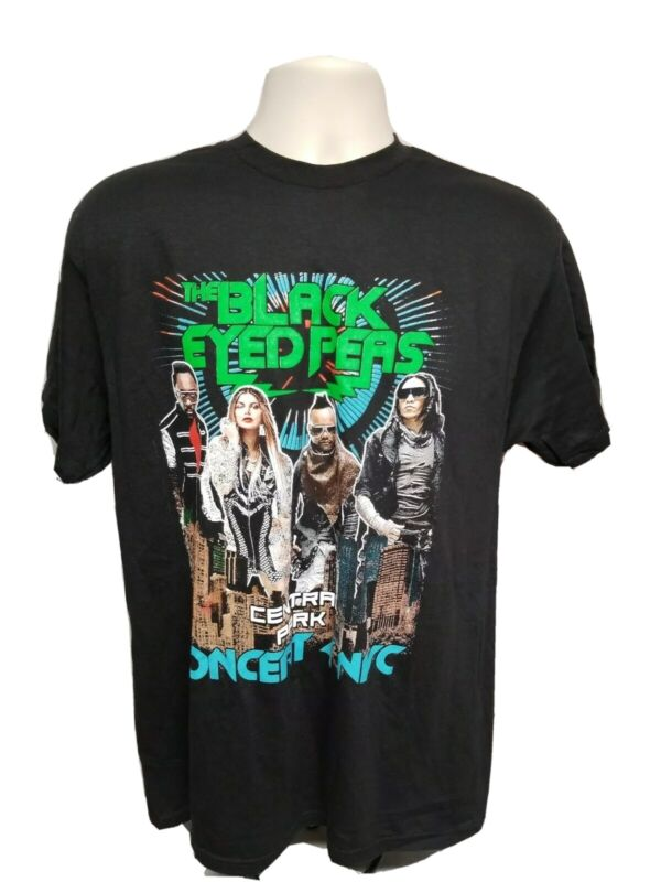 The Black Eyed Peas Central Park Concert 4 NYC Adult Large Black TShirt