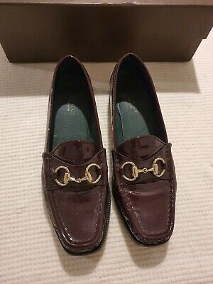 Burgundy Gucci Loafers 36.5