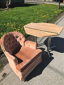 Free Table and Rocking Chair