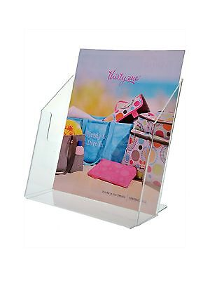 Clear Acrylic Desktop Brochure Holder Stand For 8.5w Literature