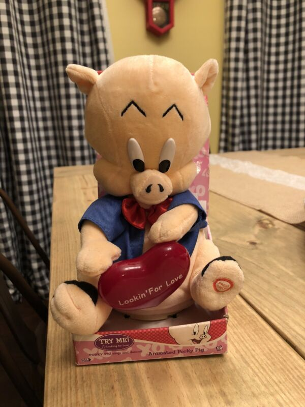 Gemmy Looking For Love Animated Porky Pig