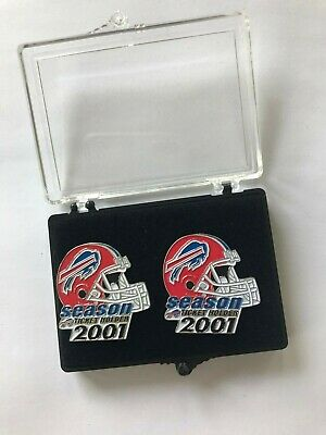 Buffalo Bills 2001 season ticket holder pins - set of 2.  In original case.