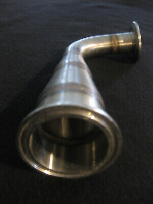 Sanitary Stainless Steel Conical Reducer W 90 Elbow 1to 2 Flange