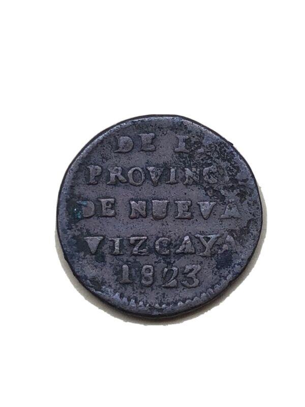 1/8 De Real 1823 Nueva Vizcaya Durango Scarce
