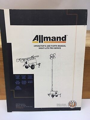 Allmand Night-lite Pro Series Operators And Parts Manual