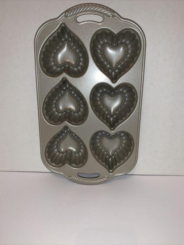 Nordic Ware Heart Cakelet Pan 5 Cups