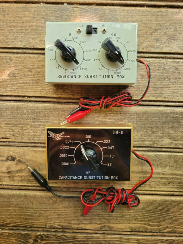Lot of 2 RESISTOR/RESISTANCE Capacitance Eagle Products SUBSTITUTION BOX