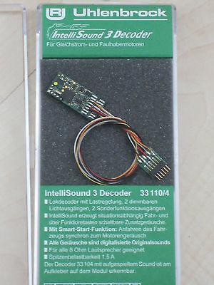 Uhlenbrock 33110 Sounddecoder MOT/DCC H0,N,TT Kabelb.+6-pol.St.+Soundwunsch NEU online kaufen