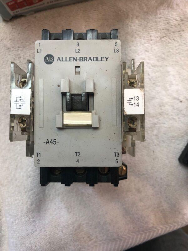 A-B Allen Bradley 100-A45N*3 Ser C Starter Contactor 3 phase 45A 600VAC max