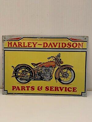 VINTAGE HARLEY DAVIDSON PARTS AND SERVICE METAL SIGN