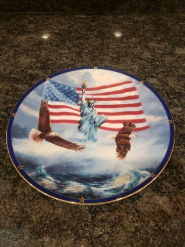*NEW* Danbury mint America stands proud plate
