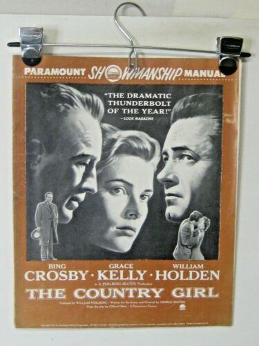 "paramount showmanship manual, ""the country girl"" Bing Crosby, Grace Kelly, W  Ho"