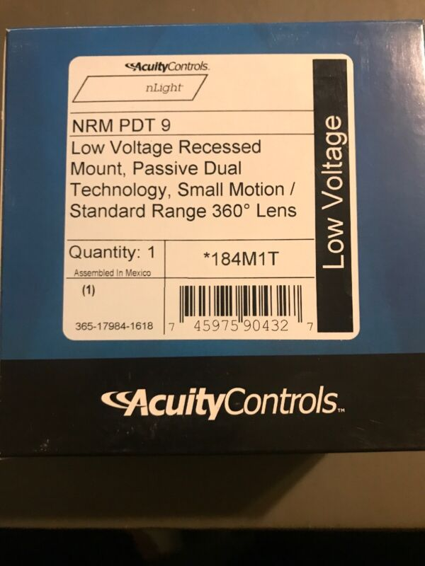 Acuity nLight NRM PDT 9  Low Voltage Recessed Mount 184M1T