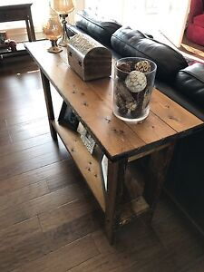 Custom made rustic tables.