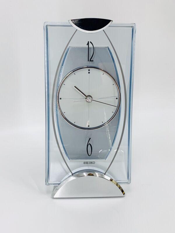 Seiko Clock Table Clock / Mantel Analog Silver Metallic Bz334S Seiko