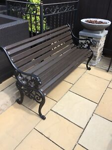 Cast iron lion head benches