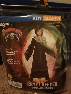 Male Fantasy Dress Up (Halloween Costume Crypt Keeper Boy M (8-10) Fantasy Dress Up Outfit Play)