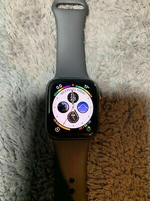 Apple Watch Series 4 40 mm Space Grey Aluminium Case with Black Sport Band...