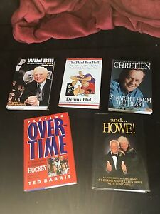 Signed /unsigned books,  Chrétien,Howe, Hull,,Hunter, Barris