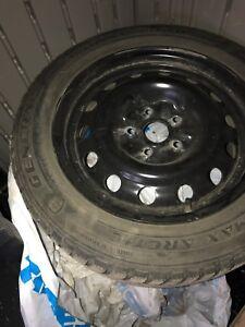Winter Tires in new steel rims