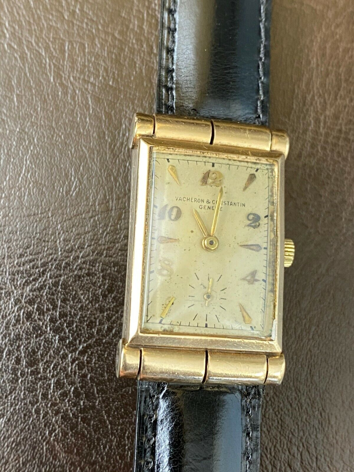 Vintage Vacheron Constantin 14K Yellow Gold Rectangular Watch 23mm x 34mm - watch picture 1