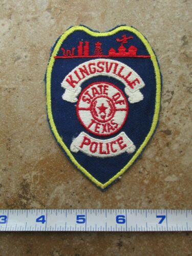 OBSOLETE Vintage State of Texas Kingsville Police Department Shoulder Patch