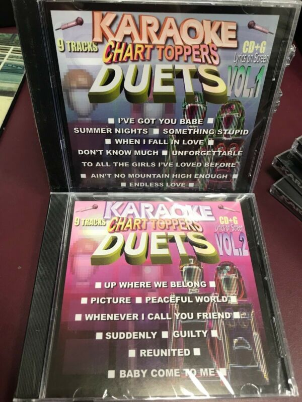 Chart Toppers Karaoke Duets Vol 1 & 2 CDG Multiplex Sealed 2 Disc Set