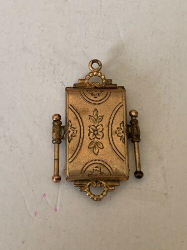 Antique Victorian Ornate 1-20th 12K Gold Filled Fob Locket Charm