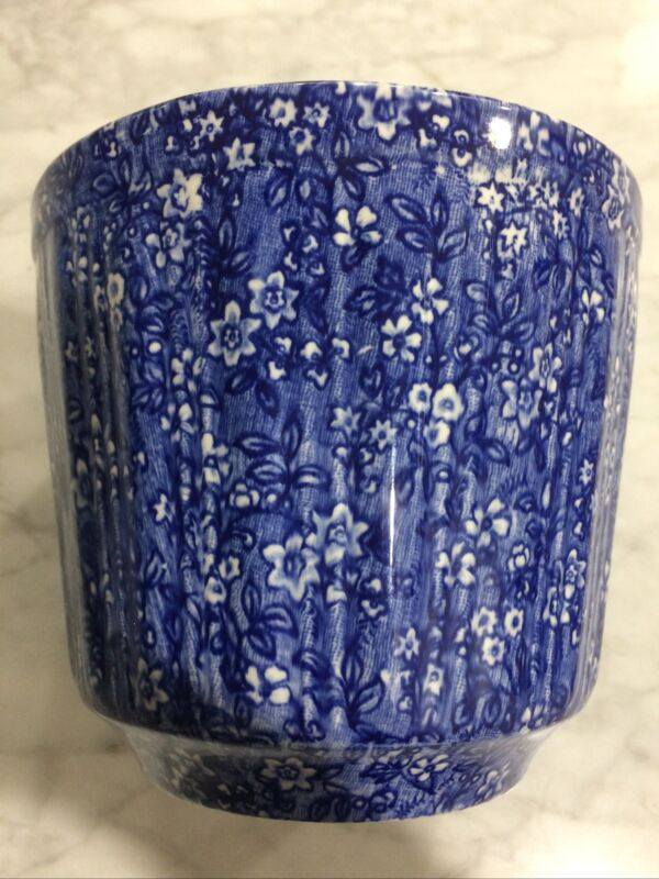 """Rare Vintage J Kent Staffordshire Blue and white Pot Made in England, 5 1/2"""""""