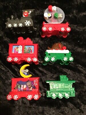 McDonalds 2017 HOLIDAY EXPRESS CHRISTMAS TRAIN CAR SET Lot of 6 Happy Meal Toy