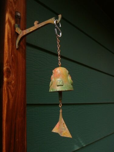 "Arcosanti Paolo Soleri 10"" Bronze Wind Bell - 2.5"" Bell Extensive Accents Nice!"