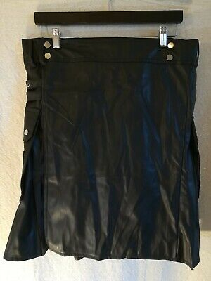 Unisex Kilt Faux Leather Roleplay LARP Cosplay Steampunk Costume size XL