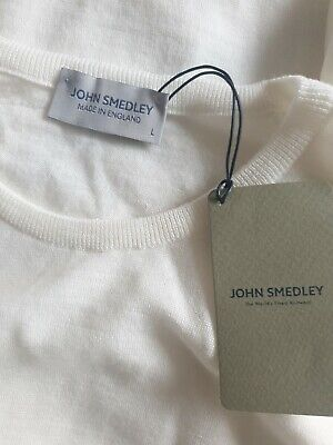 JOHN SMEDLEY LUNDY Mens 100% Merino Wool Pullover Size Large BNWT RRP £170