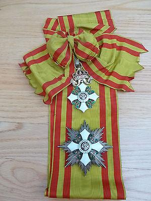RARE! Bulgaria Order CIVIL MERIT Grand 1st class medal award Bulgarian WWII