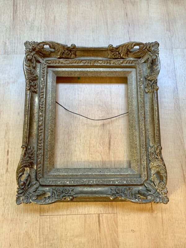 """Picture Frame 16""""x14"""" Vintage French Provincial Gold Wash Ornate Wood MadeMexico"""