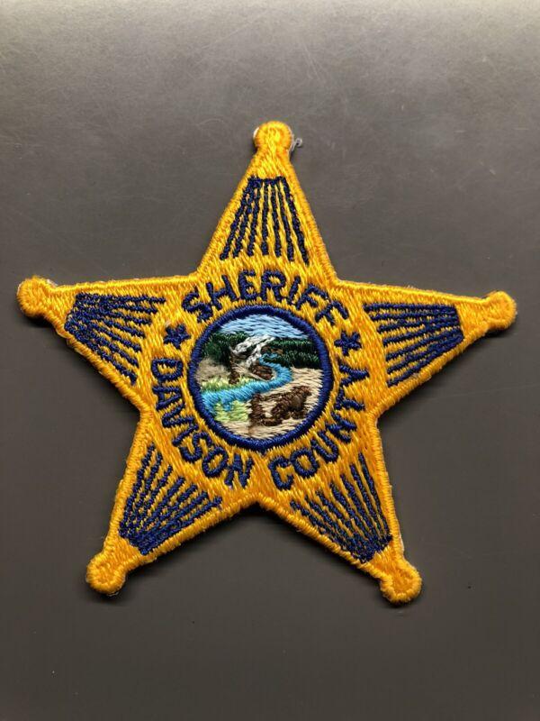Davison South Dakota Sheriff Patch ~ Star Design ~ New Condition