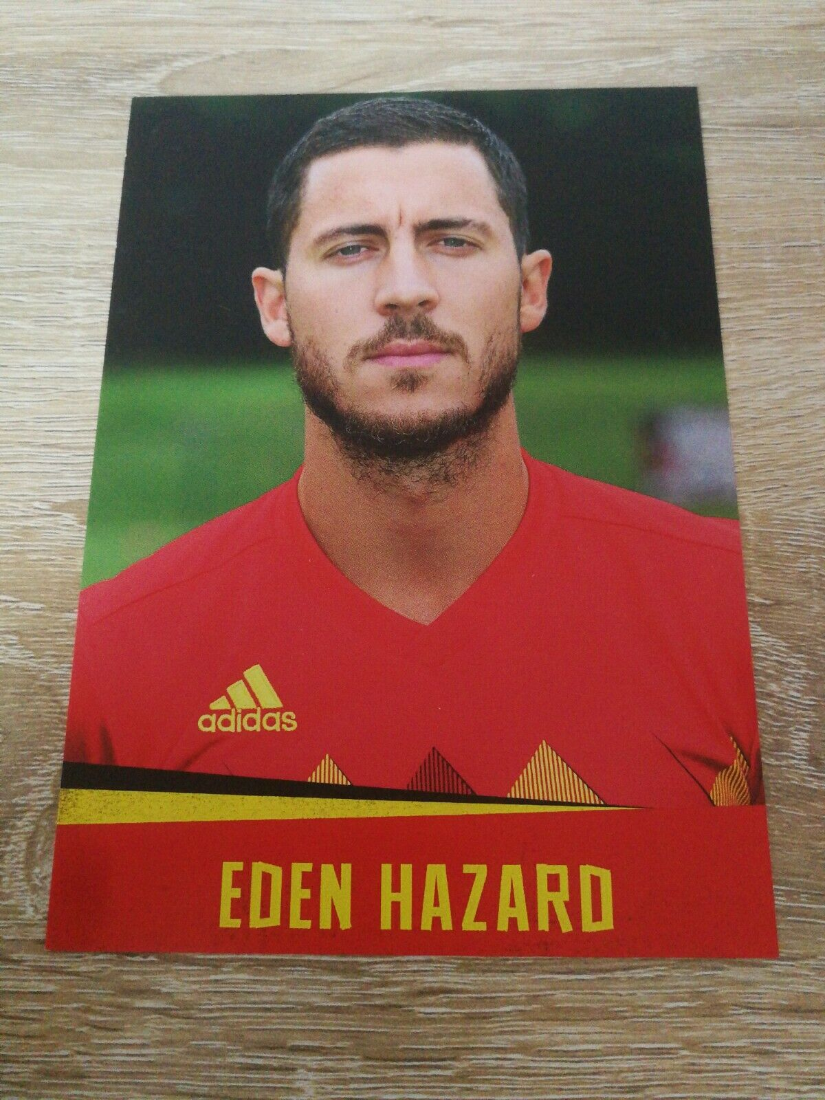 Carte Postale officiel Diables Rouges Eden Hazard Real Madrid