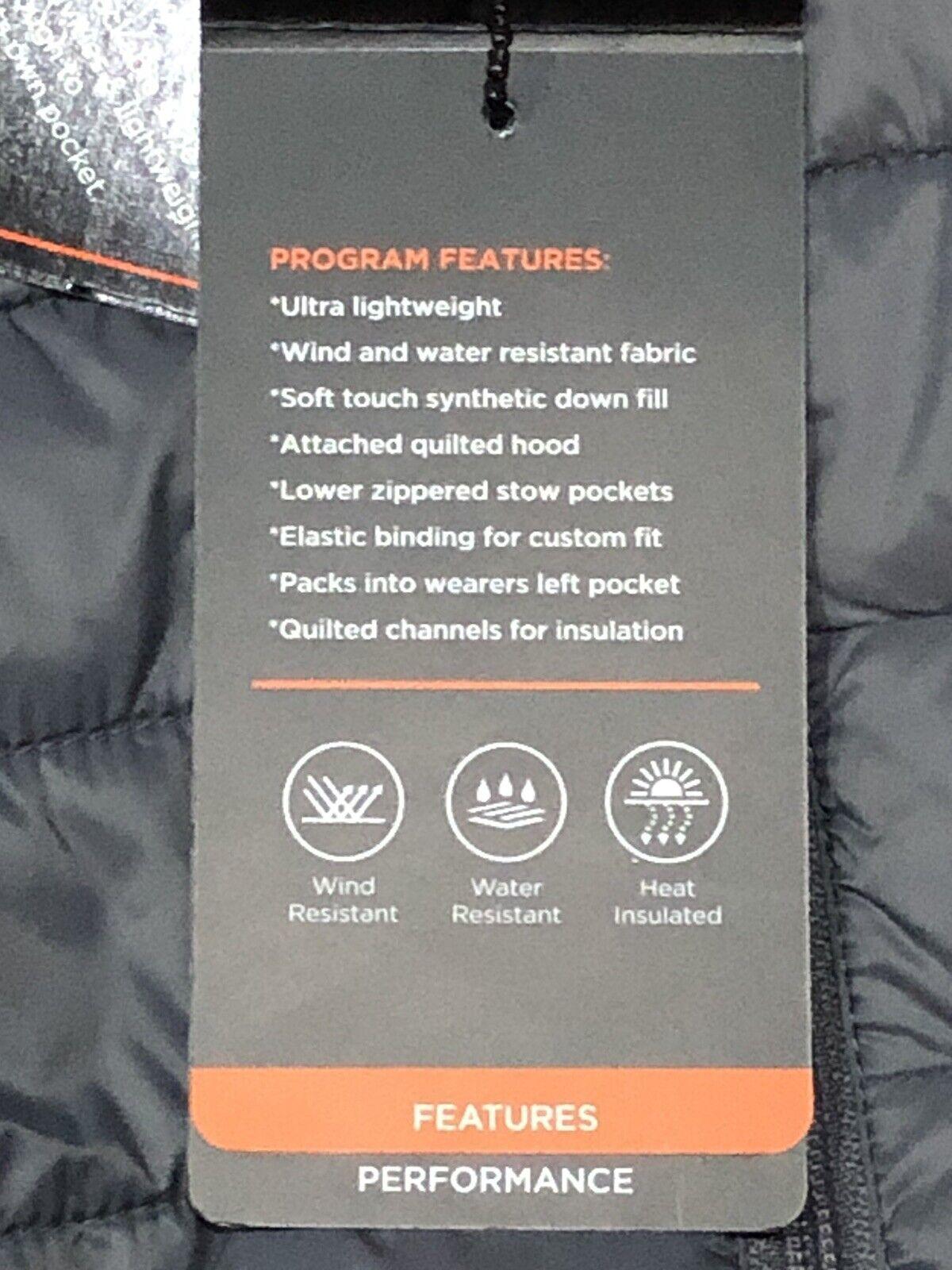 Nwt Hawk /& Co Sport Performance Packable Down Blend Fill Gray Jacket Medium