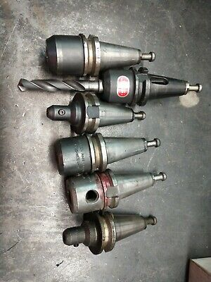 Bt35 Cnc Mill Tool Holders Lot Of 6nikken Spi Lyndex