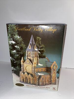 Limited Edition O'Well Heartland Valley Village Porcelain Church Cathedral