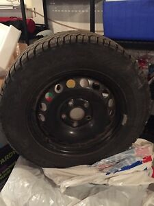 4X - 195/65/15 Winter Tires on Steel Wheels