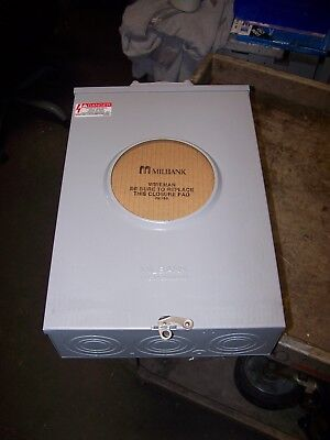 New Milbank 200 Amp Ringless Meter Socket 7 Jaw 600 Vac 1 Phase S9701-f